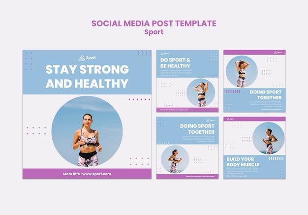 Publications Sportives Sur Les Réseaux Sociaux Psd gratuit