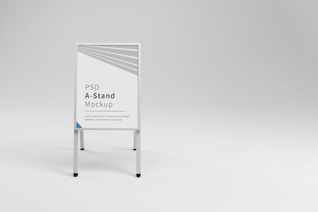Publicité blanche une maquette de stand