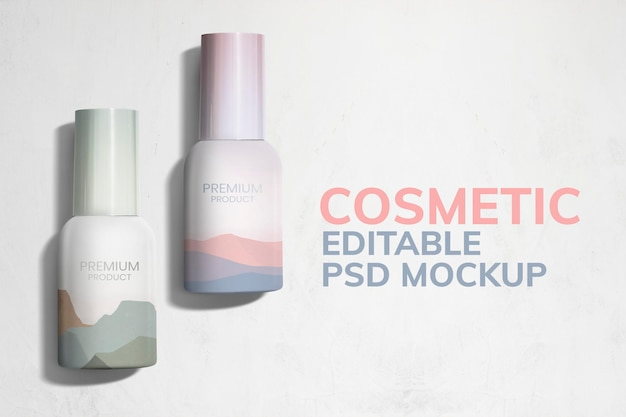 Publicité d'emballage de produit de maquette de boîtes cosmétiques colorées