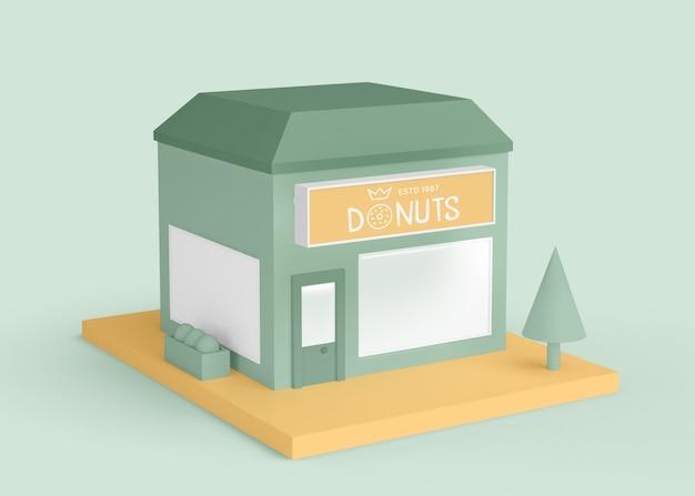 Publicité extérieure boutique de beignets