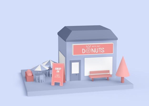 Publicité extérieure magasin de beignets