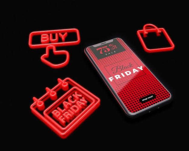 Publicité marketing pour le vendredi noir