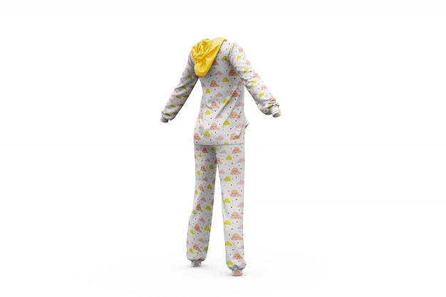 Pyjama maquette isolé