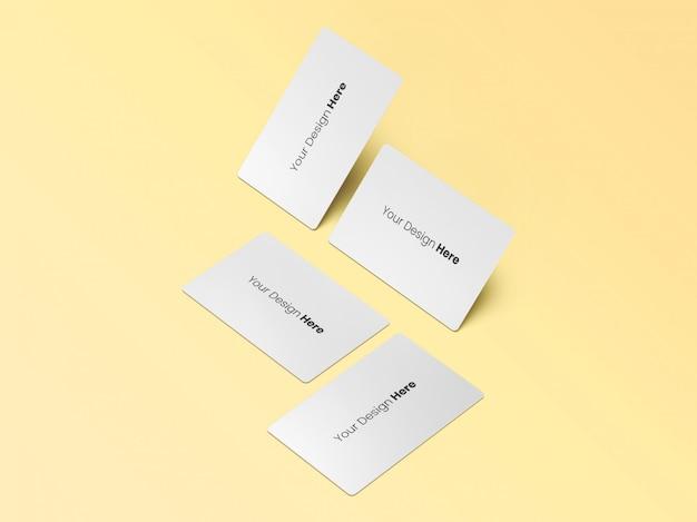 Quatre cartes de visite minimal