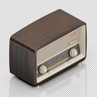 Radio vintage isométrique