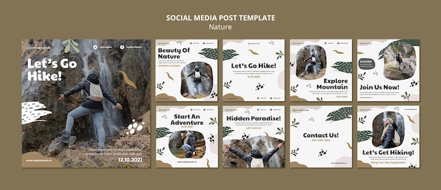 Randonnée sur les publications sur les réseaux sociaux