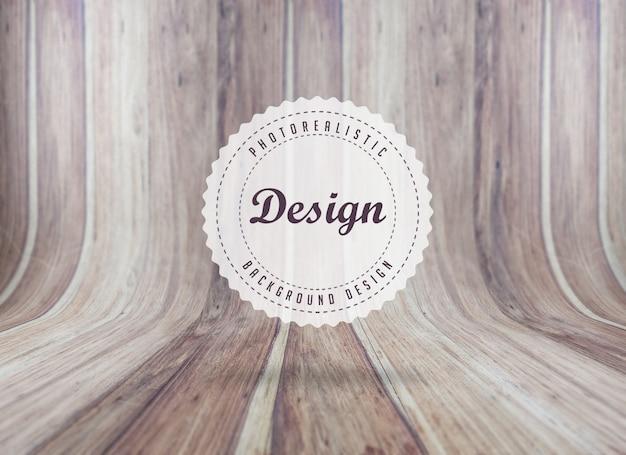Réaliste panneaux de bois texture de fond