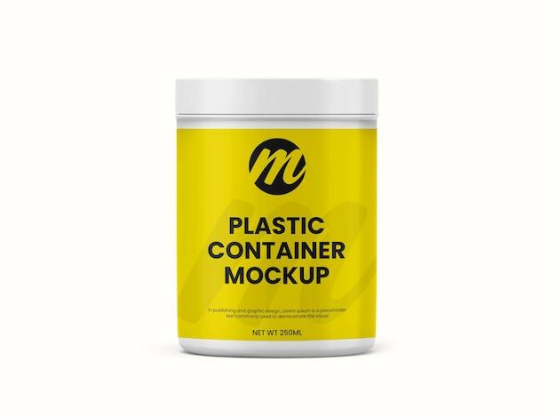 Récipient En Plastique Ou Maquette De Bouteille De Supplément PSD Premium