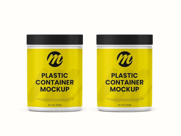 Récipient en plastique ou maquette de bouteille de supplément