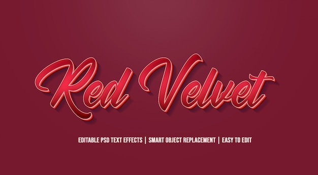 Red velvet - old vintage text effects