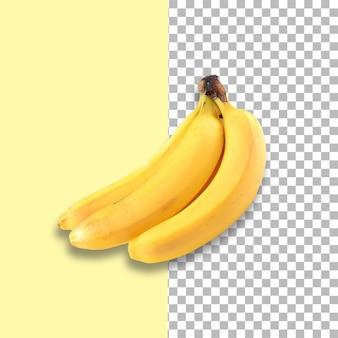 Régime de bananes isolé sur fond transparent.