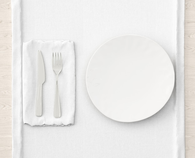 Réglage de la table sur tapis blanc