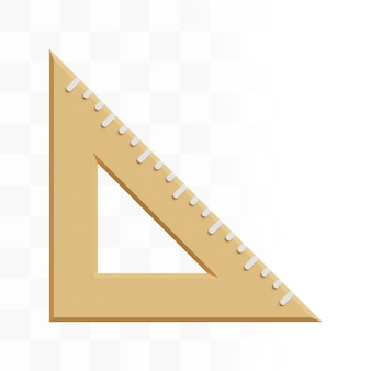 Règle triangulaire 3d
