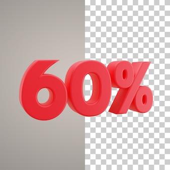 Remise d'illustration 3d 60 pour cent