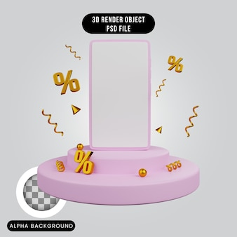 Remise de modèle de smartphone concept de rendu 3d