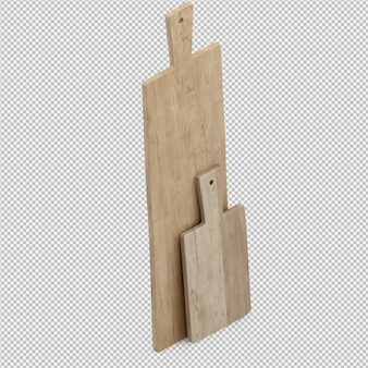 Rendu 3d d'accessoires de cuisine isométrique
