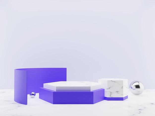 Rendu 3d d'un affichage ou d'un podium de produit minimaliste