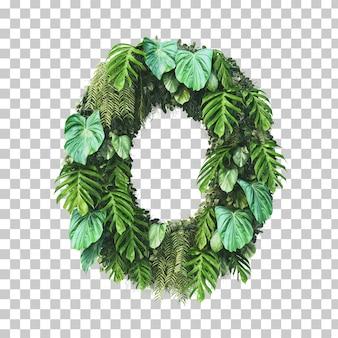 Rendu 3d de l'alphabet de jardin vertical (lettre o)