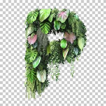 Rendu 3d de l'alphabet de jardin vertical p