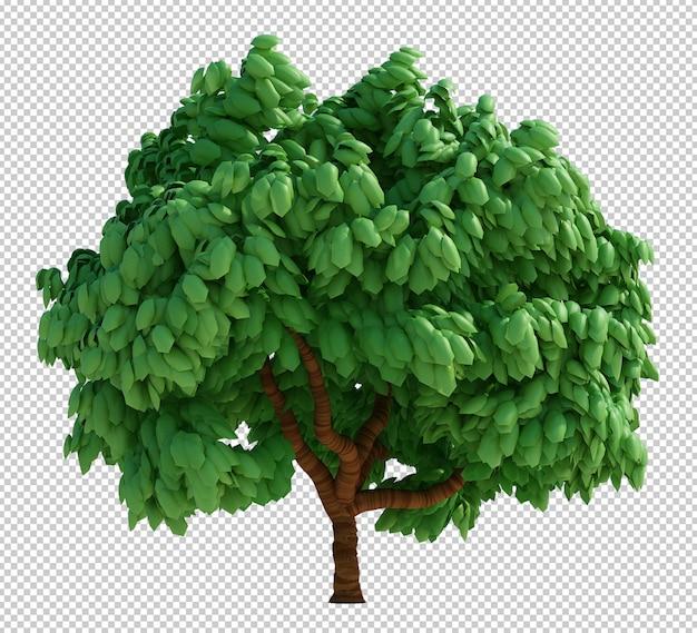 Rendu 3d d'arbre isolé