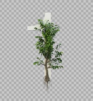 Rendu 3d de l'arbre rampant sur le numéro 1