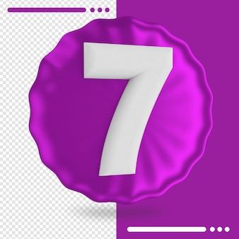 Rendu 3d ballon et numéro 7
