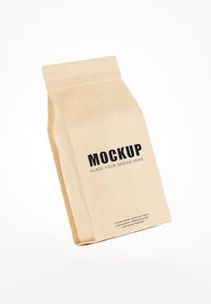 Rendu 3d de boîte à café réaliste sur fond blanc pour vos produits