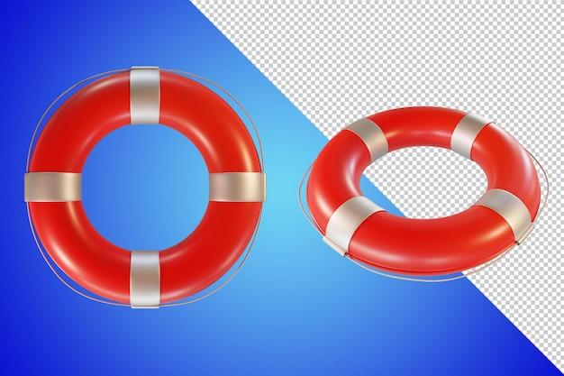 Rendu 3d de bouée de sauvetage isolé