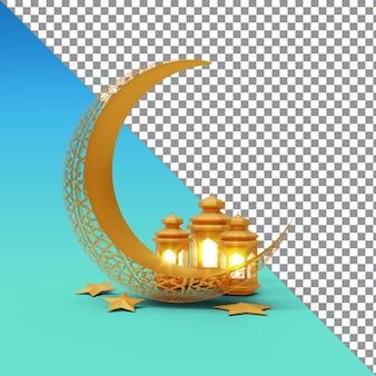 Rendu 3d de cérémonie islamique ramadan kareem