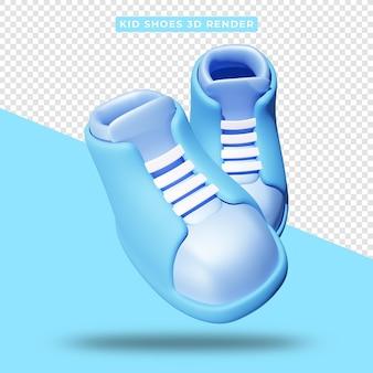 Rendu 3d de chaussures pour enfants réalistes