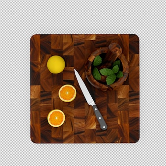 Rendu 3d citron