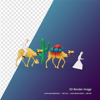 Rendu 3d concept de voeux ramadan mubarak