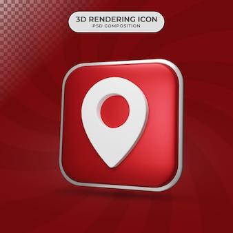 Rendu 3d de la conception d'icône de localisation