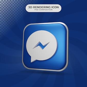 Rendu 3d de la conception d'icône de messager
