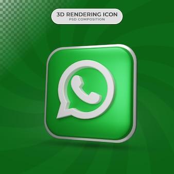 Rendu 3d de la conception d'icône whatsapp