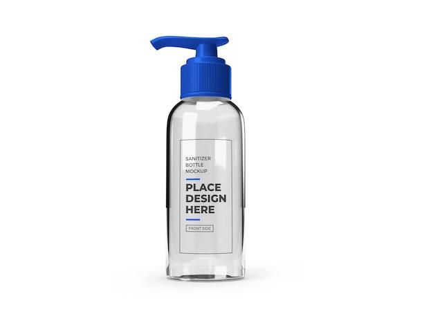 Rendu 3d de conception de maquette de bouteille de pompe de désinfectant