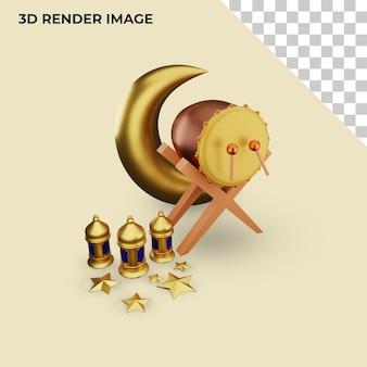 Rendu 3d de la décoration islamique
