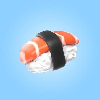 Rendu 3d de délicieux sushis