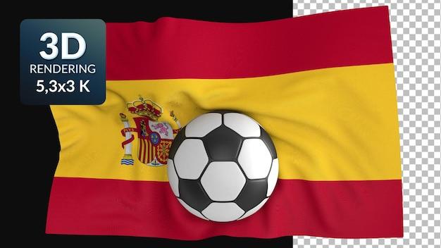 Rendu 3d drapeau du monde football football