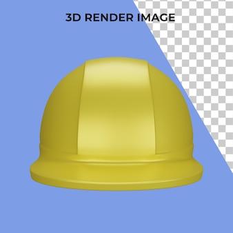 Rendu 3d du casque de sécurité premium psd