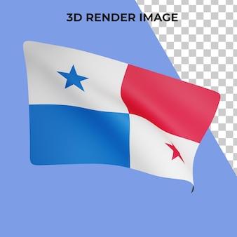 Rendu 3d du concept du drapeau du panama fête nationale du panama