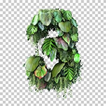 Rendu 3d du jardin vertical numéro 3