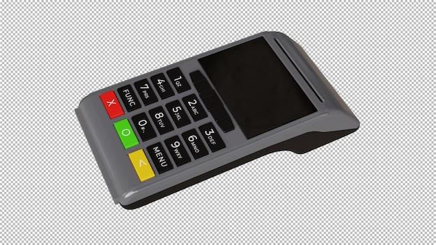 Rendu 3d du lecteur de carte de crédit isolé