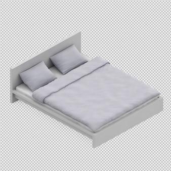 Rendu 3d du lit
