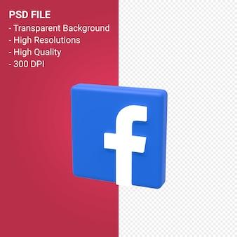 Rendu 3d du logo facebook