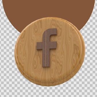 Rendu 3d du logo de facebook