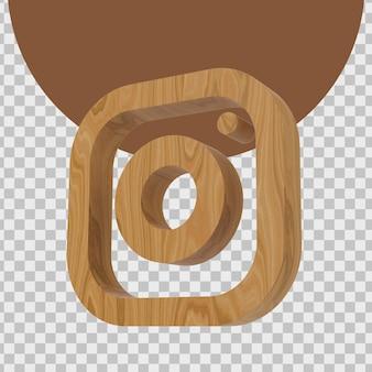 Rendu 3d du logo d'instagram