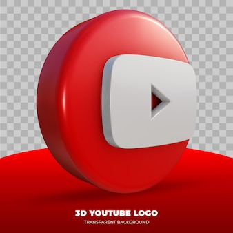 Rendu 3d du logo youtube