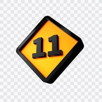 Rendu 3d du numéro 11