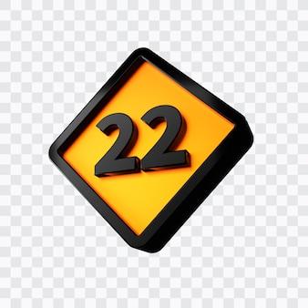 Rendu 3d du numéro 22